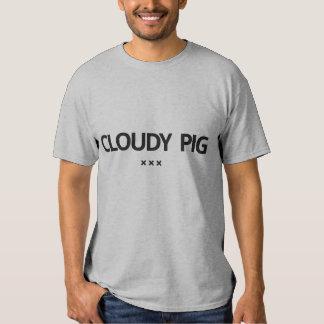 Camiseta nublada del cerdo por la piel de cerdo de playera