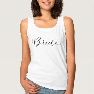Camiseta nupcial del boda del fiesta de la playera de tirantes básica