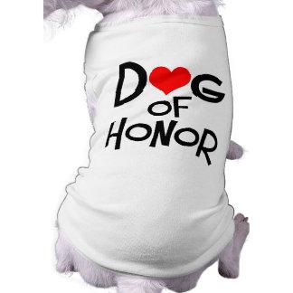 Camiseta nupcial del perro ropa de mascota