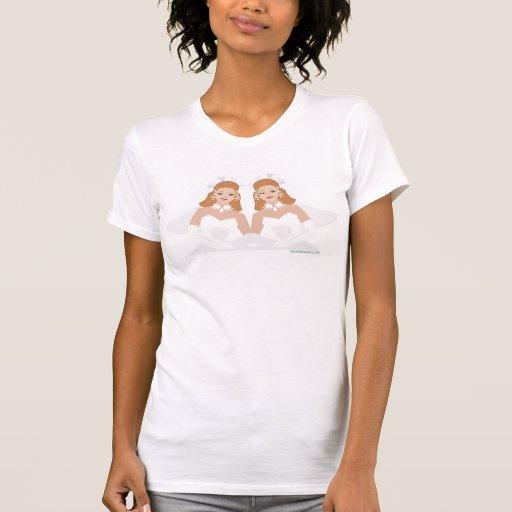 Camiseta nupcial lesbiana gay