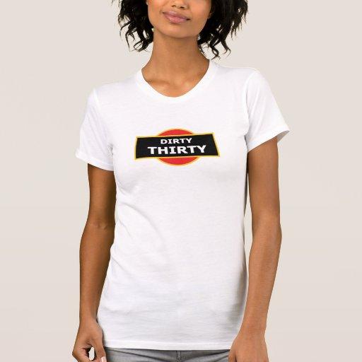 ¡Camiseta o el tanque sucia 30 del logotipo de