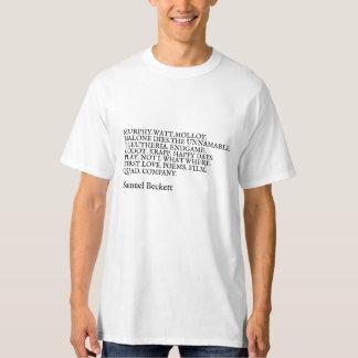 Camiseta Obra de Samuel Beckett. Playera