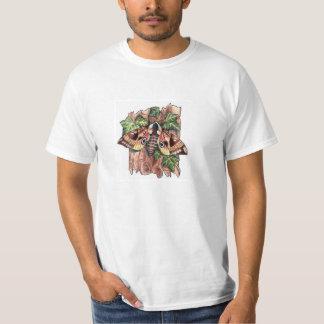 Camiseta observada de la polilla de halcón camisas