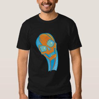 Camiseta observada espiral del cráneo poleras