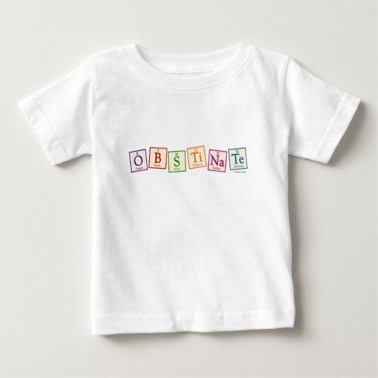 Camiseta obstinada del bebé