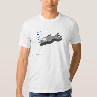 Camiseta oficial de Gang® Sharky del terciopelo Playera