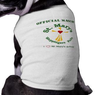 Camiseta oficial de la mascota de la escuela catól ropa de mascota