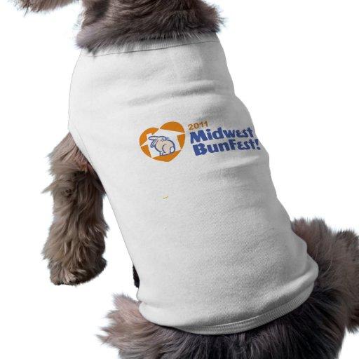 Camiseta oficial del conejito de MidWestBunFest Playera Sin Mangas Para Perro
