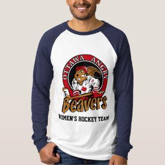 Camiseta OFICIAL del lema de los castores enojados Playera