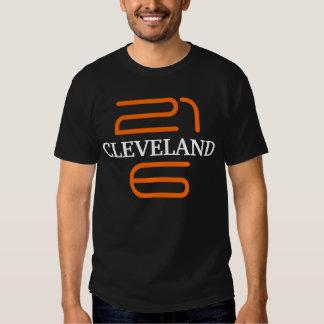 Camiseta Ohio Brown anaranjado negro de la Poleras