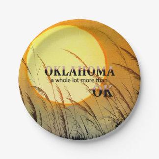 CAMISETA Oklahoma Plato De Papel De 7 Pulgadas