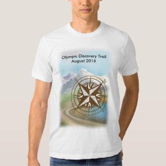 Camiseta olímpica del paseo del rastro del poleras