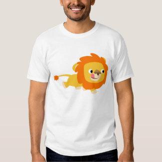 Camiseta oportunista de los niños del león del poleras