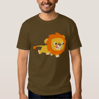 Camiseta oportunista del león del dibujo animado polera