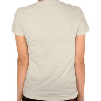 Camiseta orgánica auténtica de las señoras playeras