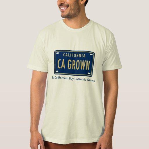 Camiseta orgánica crecida California del logotipo Polera