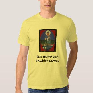Camiseta orgánica de la garza de zen del centro polera