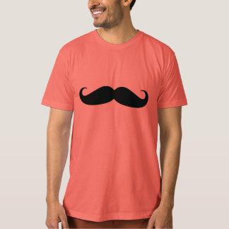 Camiseta orgánica de la granada del bigote de los remera