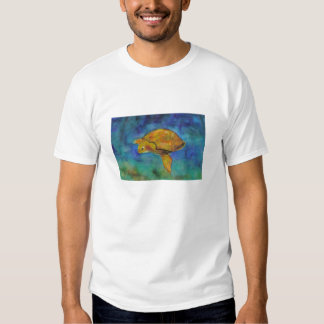 Camiseta orgánica de la tortuga de mar polera