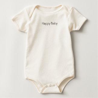 Camiseta orgánica de la yoga feliz del bebé mamelucos