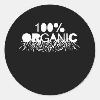 Camiseta orgánica del 100% pegatinas redondas