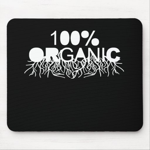 Camiseta orgánica del 100% tapete de raton