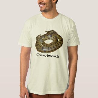 Camiseta orgánica del Anaconda verde Remeras