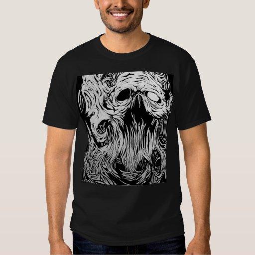 camiseta orgánica del cráneo playera
