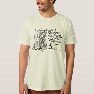 Camiseta orgánica del Día de la Tierra feliz para Remeras