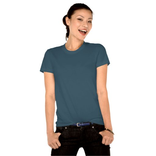 Camiseta orgánica del lobo fornido para mujer forn