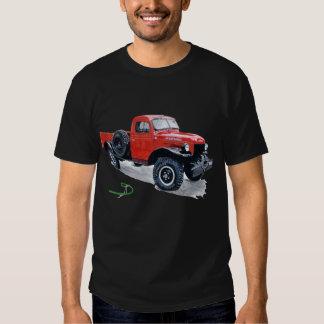 Camiseta orgánica del poder del camión antiguo del playera