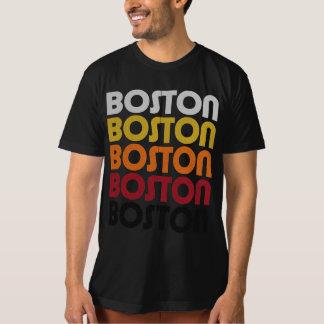 Camiseta orgánica negra retra de Boston Camisas