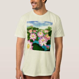 Camiseta orgánica para hombre del jardín de flores