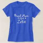 Camiseta orgullosa de la mamá de la zeta playeras
