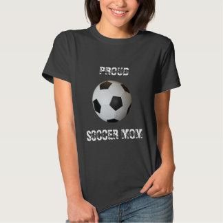 Camiseta orgullosa de la mamá del fútbol del balón polera