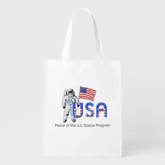 CAMISETA orgullosa de programa espacial de los Bolsa Para La Compra