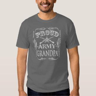 Camiseta orgullosa del abuelo del ejército poleras