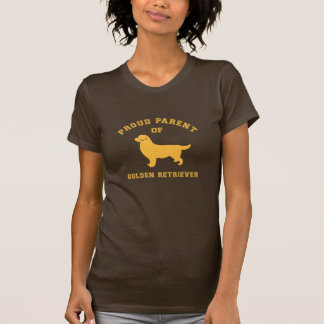 Camiseta orgullosa del golden retriever del padre