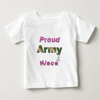 Camiseta orgullosa del niño de la sobrina del
