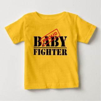 Camiseta orgullosa del niño del combatiente del playeras