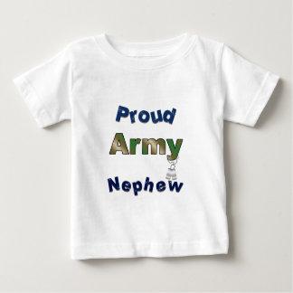 Camiseta orgullosa del niño del sobrino del