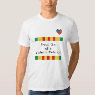 Camiseta orgullosa del veterano de Vietnam del Camisas