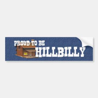 CAMISETA orgullosa ser Hillbilly Etiqueta De Parachoque