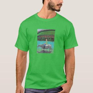 """Camiseta oscura básica """"carabao del montar a"""