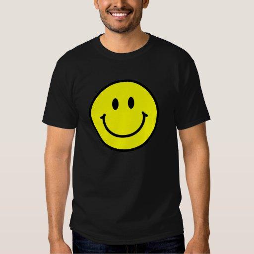 Camiseta oscura básica de la cara feliz poleras