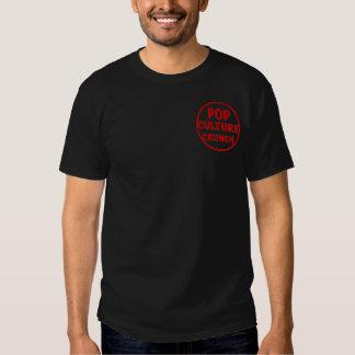 Camiseta oscura básica del crujido del cultura Pop Remera