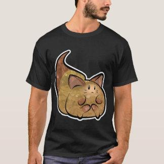 Camiseta oscura básica del gatito mullido de Toon