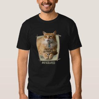 Camiseta oscura básica del problema del ratón poleras