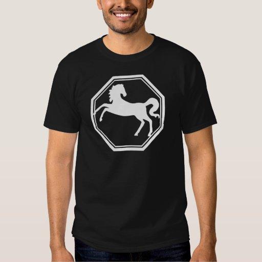 Camiseta oscura básica del zodiaco del caballo remera