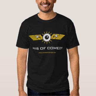 Camiseta oscura básica - logotipo del color de AOC Polera